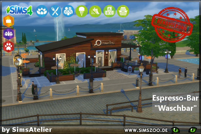 Waschbar Espresso Bar by SimsAtelier at Blacky's Sims Zoo image 895 Sims 4 Updates