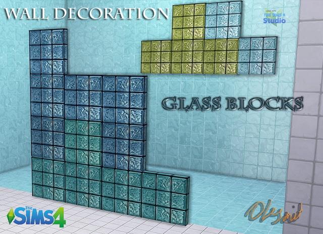 Sims 4 Glass Blocks at OleSims