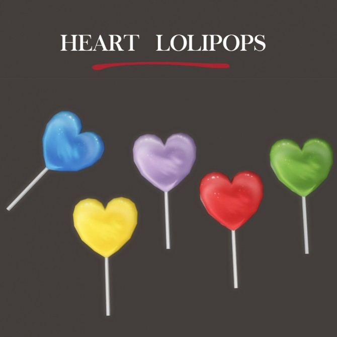 Heart Lolipop at Leo Sims image 9011 670x670 Sims 4 Updates