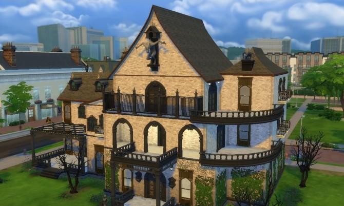 Sims 4 Vampire Mansion II no CC at Tatyana Name