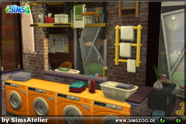 Sims 4 Waschbar Espresso Bar by SimsAtelier at Blacky's Sims Zoo