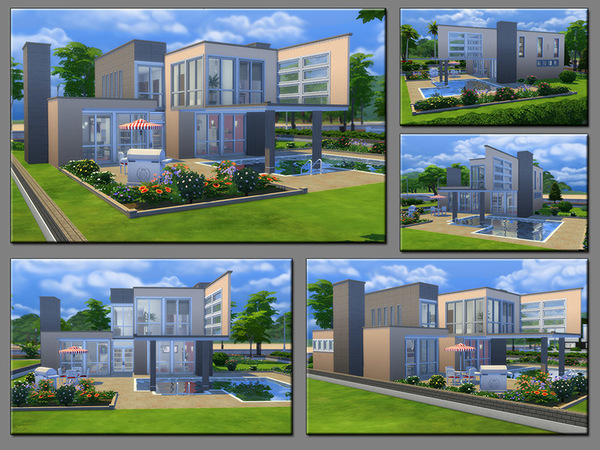 Sims 4 MB Safe Place home by matomibotaki at TSR