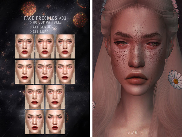Sims 4 Face Freckles #03 by Scarlett content at TSR