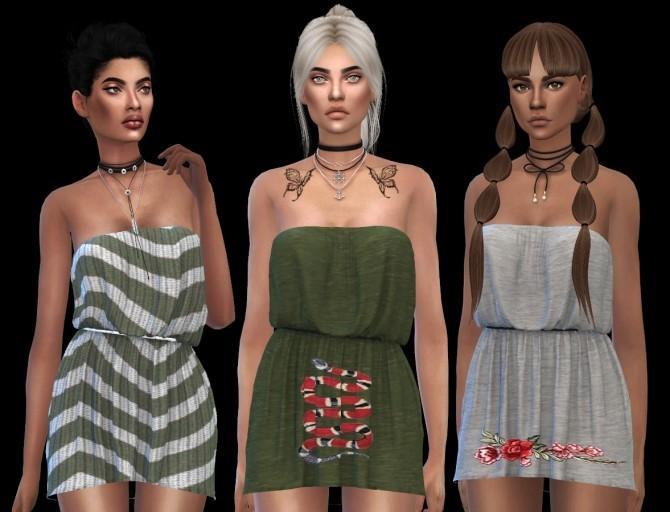 Sims 4 Cassandra Dress (P) at Leo Sims