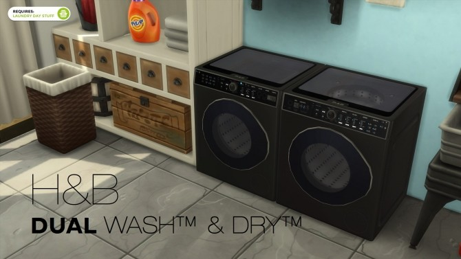 DualWash DualDry by littledica at Mod The Sims image 958 670x377 Sims 4 Updates