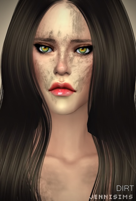 Collection Makeup & Tattoos (Tribal Fury, Wound, Dirt) at Jenni Sims image 973 Sims 4 Updates