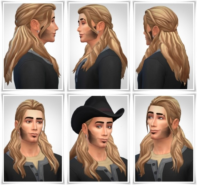 Sims 4 Ian's Half Up Hair at Birksches Sims Blog