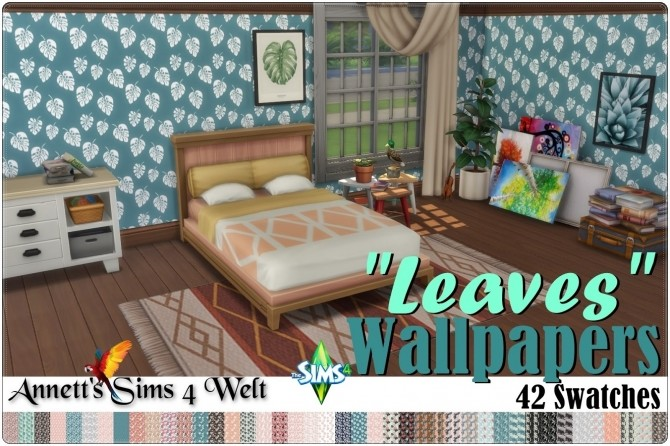 Leaves Wallapers at Annett's Sims 4 Welt image 981 670x446 Sims 4 Updates