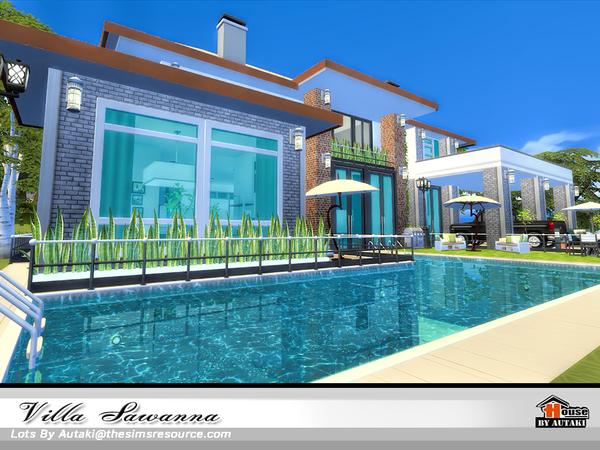 Sims 4 Villa Sawanna by autaki at TSR