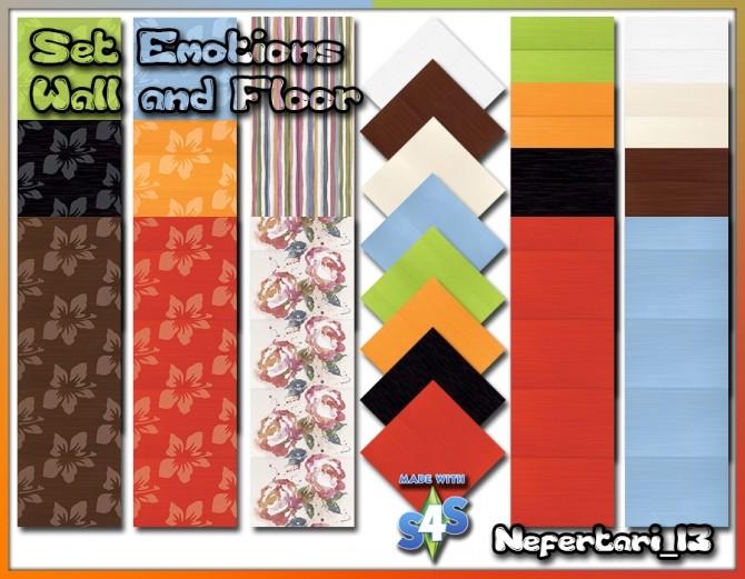 Sims 4 Set Emotions (walls and floors) rugs and paintings at Nefertari 13