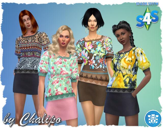Sims 4 Jungle shirt by Chalipo at All 4 Sims