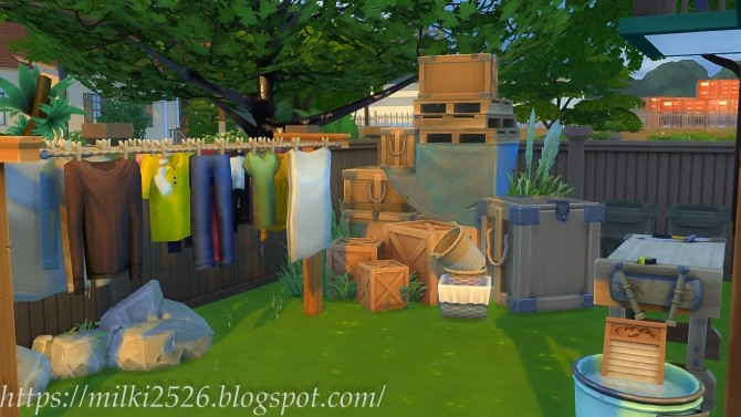 Two neighbors house at Milki2526 image 1007 670x377 Sims 4 Updates