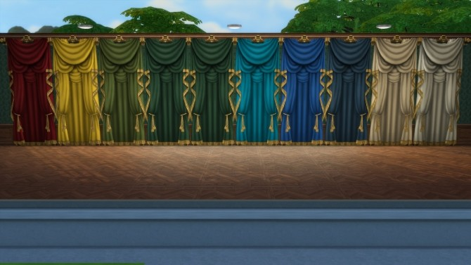 Sims 4 Grand Century Curtains Deluxe Edition (Open & Closed) by TheJim07 at Mod The Sims
