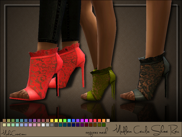 Sims 4 Madlen Cecilia Shoes Recolor by MahoCreations at TSR