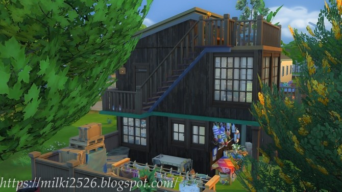 Two neighbors house at Milki2526 image 10112 670x377 Sims 4 Updates