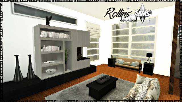Sims 4 Rollins modern living room at Pandasht Productions