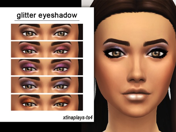 Glitter Eyeshadow by xtinaplays ts4 at TSR image 1020 Sims 4 Updates