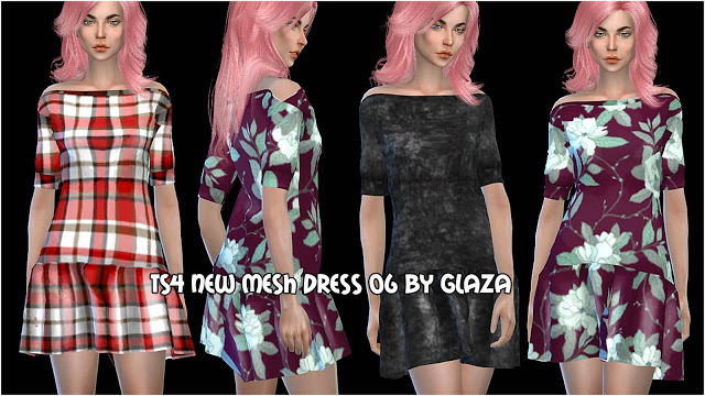 DRESS 06 at All by Glaza image 10210 Sims 4 Updates