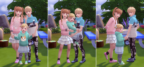 Siblings Pose At A Luckyday 187 Sims 4 Updates
