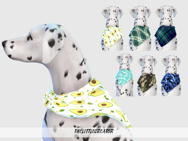 Sims 4 Large Dog Collars by TheLittleCreator at TSR