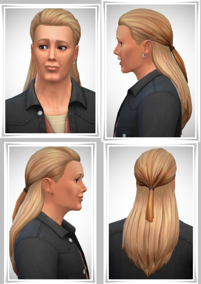 Sims 4 JohnnyW's Ponytail hair at Birksches Sims Blog