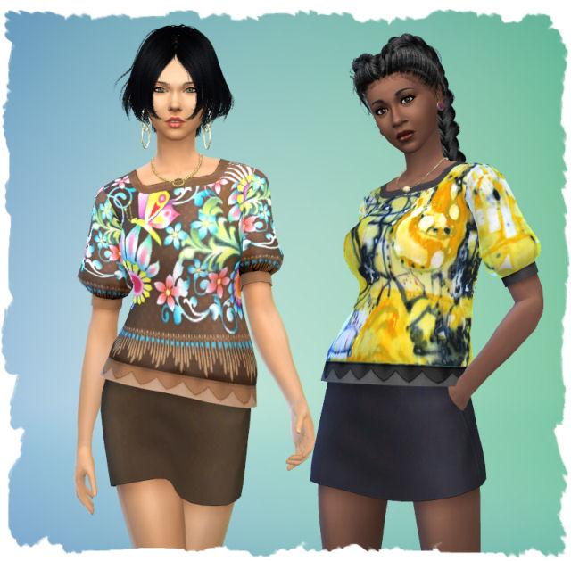 Jungle shirt by Chalipo at All 4 Sims image 1027 Sims 4 Updates
