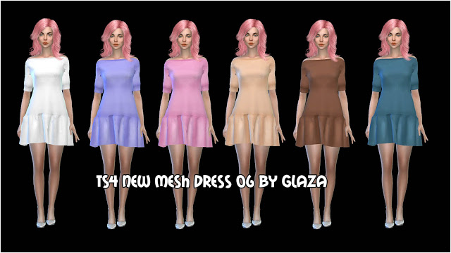 DRESS 06 at All by Glaza image 1036 Sims 4 Updates