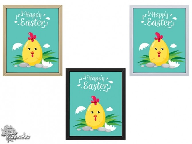 Sims 4 Sweet Easter Paintings by Chanchan24 at Sims Artists