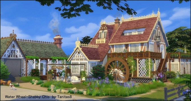 Water Wheel Shabby Chic at Tanitas8 Sims image 1046 670x356 Sims 4 Updates