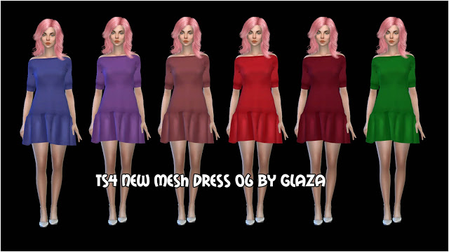 DRESS 06 at All by Glaza image 1047 Sims 4 Updates