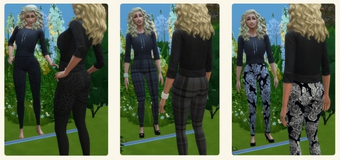 Sims 4 Short Hoody Top & Crochet Floral Top at TheUnicorn Creations