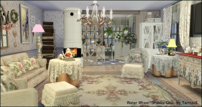 Water Wheel Shabby Chic at Tanitas8 Sims image 1056 670x356 Sims 4 Updates