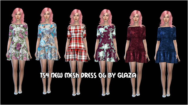 DRESS 06 at All by Glaza image 1057 Sims 4 Updates