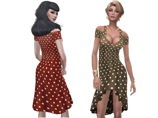 Sims 4 Anastasia dress by Simalicious at TSR