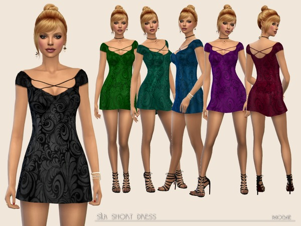 Silk Short Dress by Paogae at TSR image 1070 Sims 4 Updates