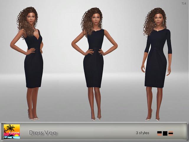 Sims 4 Dress Vee at Elfdor Sims