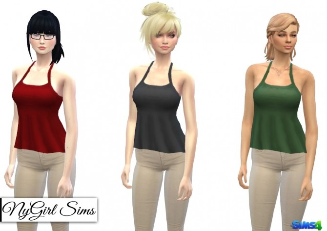 Ruffled Asymmetrical Tank at NyGirl Sims image 1097 670x473 Sims 4 Updates