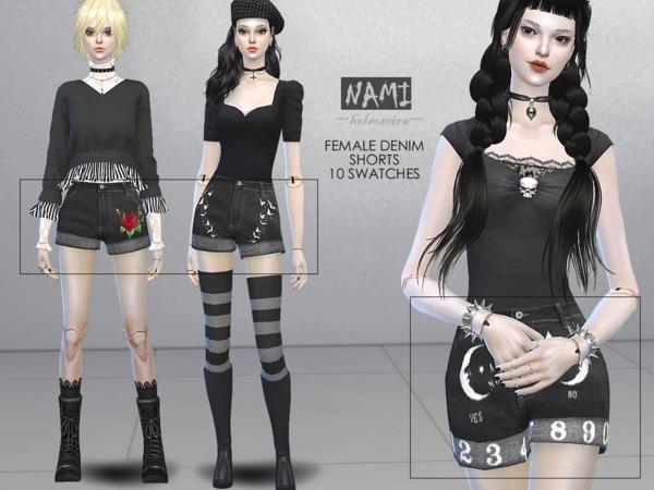 NAMI Denim Shorts FM by Helsoseira at TSR image 1100 Sims 4 Updates