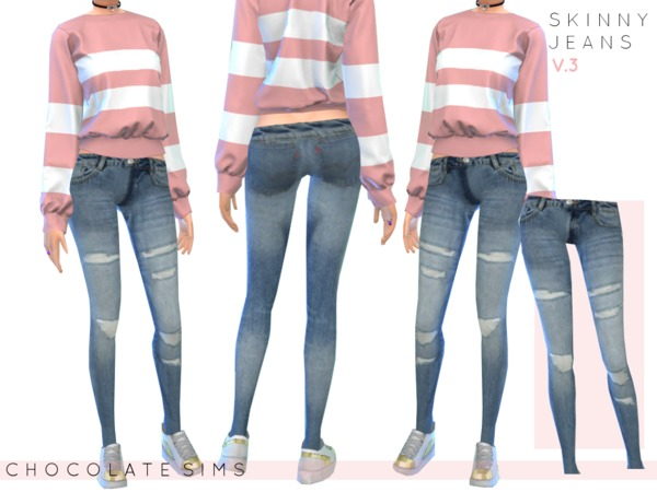 Sims 4 Skinny Jeans V.3 Acc by MissSchokoLove at TSR