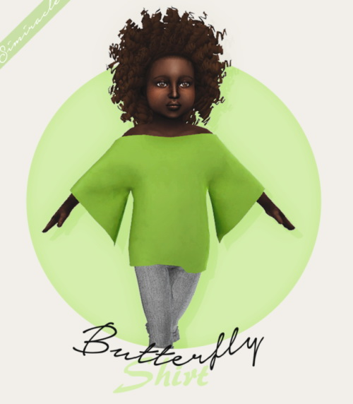Sims 4 Butterfly Shirt Toddler Version at Simiracle