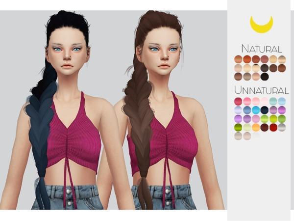 Sims 4 Hair Retexture 34 LeahLilliths Nightdancer by Kalewa a at TSR