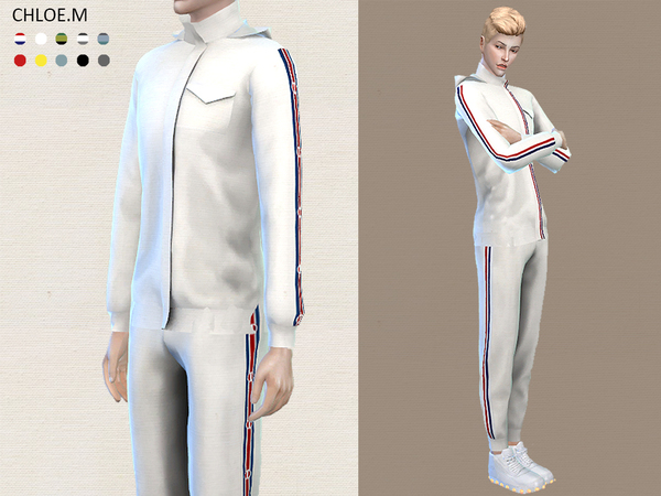 Sports Hoodie and shorts male by ChloeMMM at TSR image 1120 Sims 4 Updates