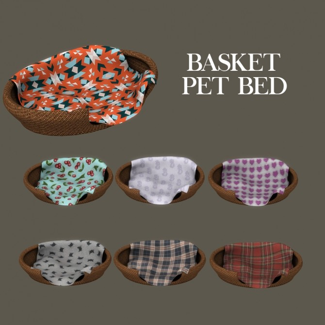Basket Pet Bed at Leo Sims image 11219 670x670 Sims 4 Updates