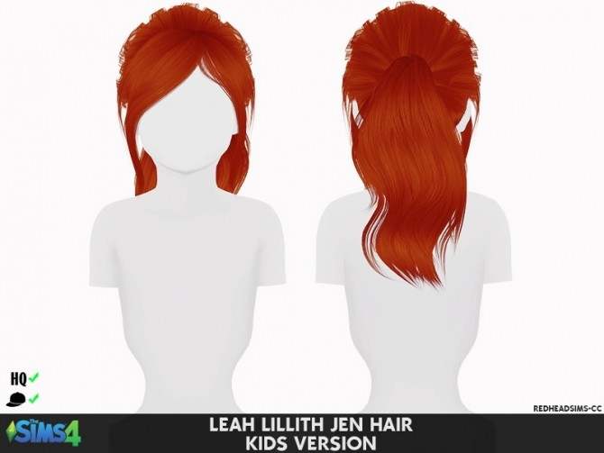 LEAH LILLITH JEN HAIR KIDS AND TODDLER VERSION by Thiago Mitchell at REDHEADSIMS image 1124 670x503 Sims 4 Updates