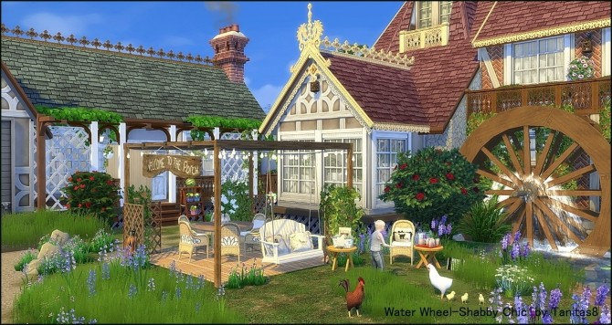 Water Wheel Shabby Chic at Tanitas8 Sims image 1125 670x356 Sims 4 Updates
