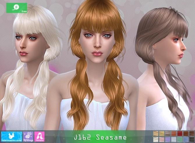 J162 Seasame hair at Newsea Sims 4 image 1135 670x491 Sims 4 Updates