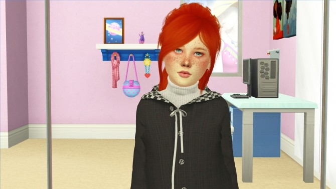 Sims 4 LEAH LILLITH JEN HAIR KIDS AND TODDLER VERSION by Thiago Mitchell at REDHEADSIMS