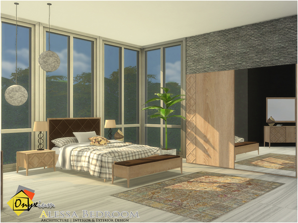 Sims 4 Alessa Bedroom by Onyxium at TSR