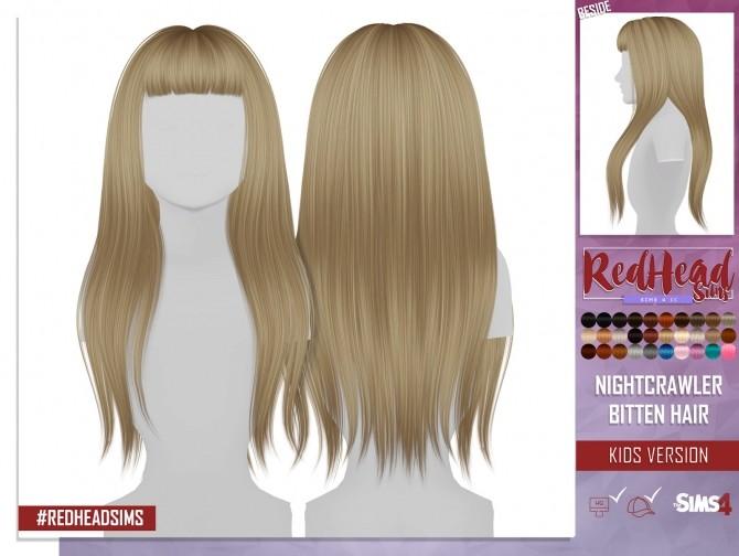 Sims 4 NIGHTCRAWLER BITTEN HAIR KIDS AND TODDLER VERSION at REDHEADSIMS