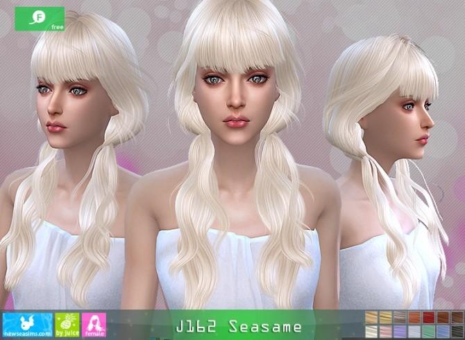 J162 Seasame hair at Newsea Sims 4 image 1155 670x491 Sims 4 Updates